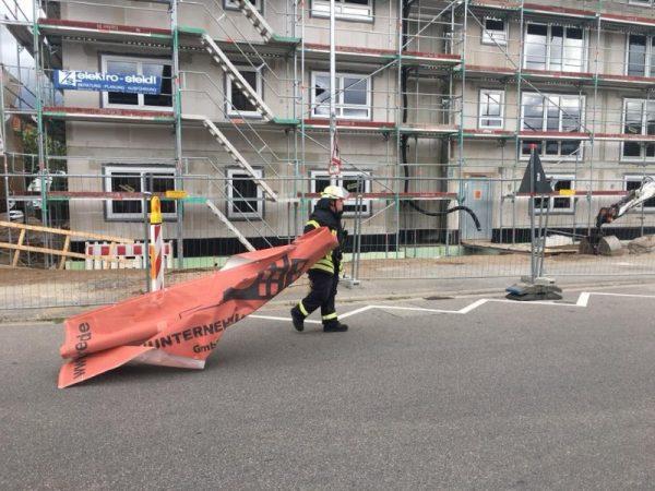 Weinheim – Wohnungsbrand in Nächstenbacher Weg  – Unwetterfront zieht über Weinheim- Über 10 Einsätze am Sonntag