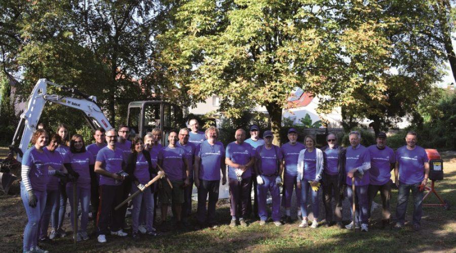 Mutterstadt – Ein sehenswertes Ergebnis am Freiwilligentag der Metropolregion Rhein-Neckar 2018 in Mutterstadt
