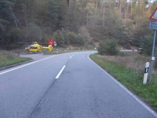 Neustadt – Motorradfahrer verunglückt