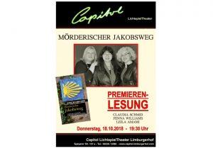 Limburgerhof – Premierenlesung: Mörderischer Jakobsweg im Capitol-Kino am 18.10.2018
