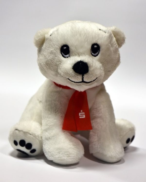 Ludwigshafen – Sparkasse Vorderpfalz lädt zum Weltspartag ein – Eisbär Mats freut sich auf junge Sparer
