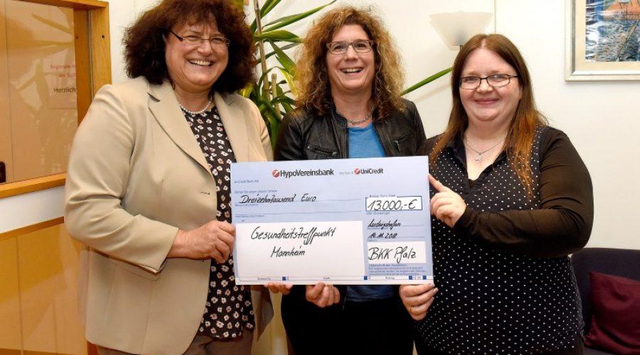 Ludwigshafen – Die BKK Pfalz unterstützt die Mannheimer Selbsthilfe mit 13.000 Euro
