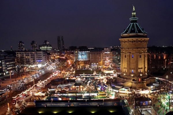 Mannheim – Mannheimer Weihnachtsmarkt am Wasserturm: Eröffnung am 28. November