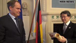 Heidelberg – Oberbürgermeister Eckart Würzner wurde vom japanischen Außenministerium ausgezeichnet