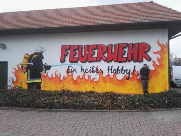 Dannstadt-Schauernheim – Freiwillige Feuerwehr Dannstadt-Schauernheim – Graffiti-Kunst am Gerätehaus
