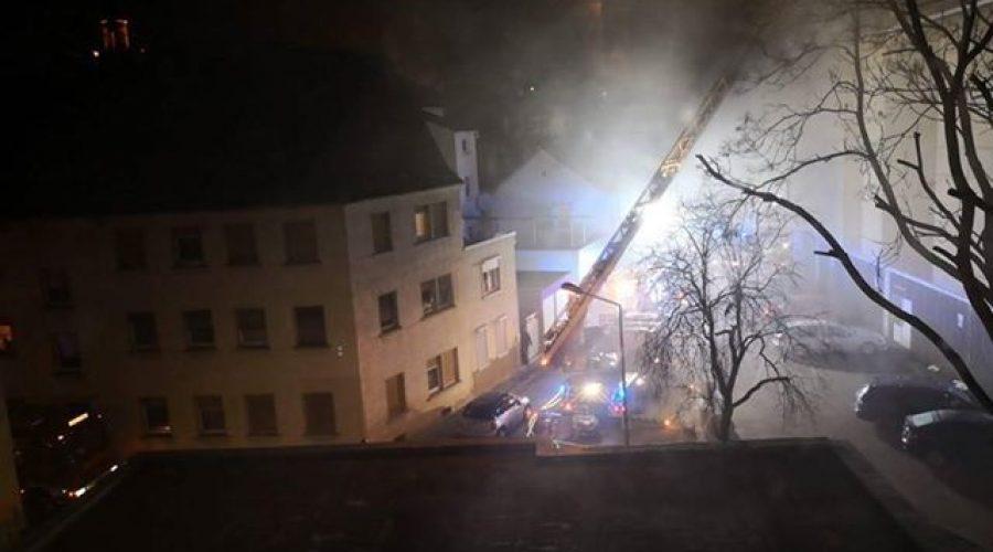 Worms – Aktuell brennt das alte Bauhaus