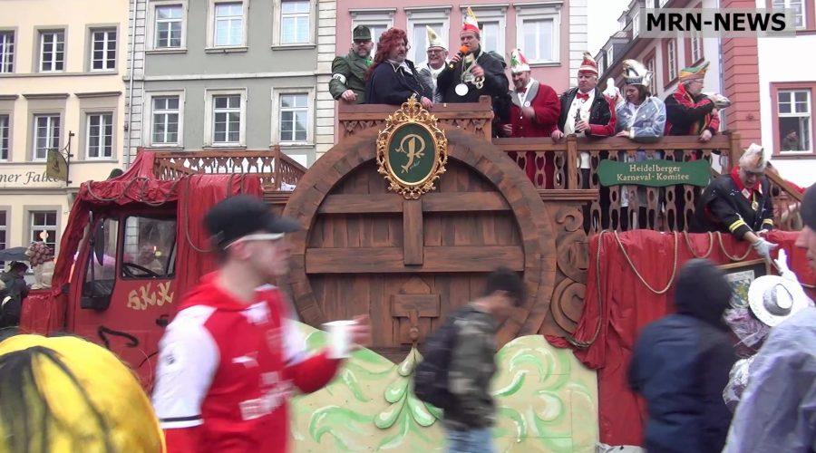 Heidelberg – Heißer, als die Polizei erlaubt: Der Heidelberger Fastnachtsumzug am 5. März 2019