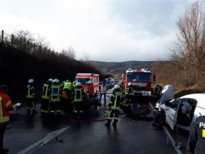 Neustadt/Weinstraße – Schwerer Verkehrsunfall auf B38