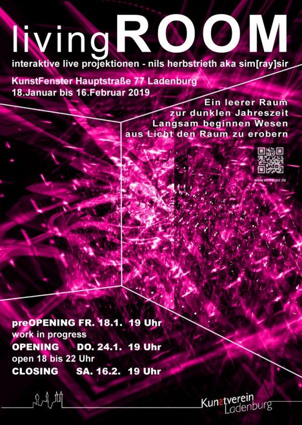 """Ladenburg – """"LivingROOM"""" – Video-Installation von Nils Herbstrieth beim Kunstverein Ladenburg"""