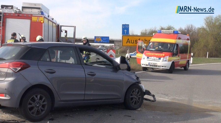 Ludwigshafen / Rhein-Pfalz-Kreis – Unfall auf B9 Ausfahrt Maudach / Mutterstadt