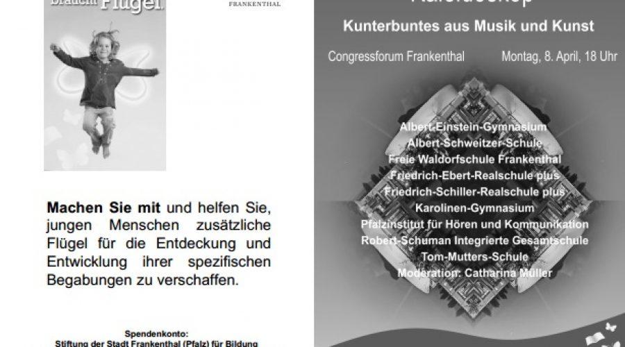 Frankenthal – Bildungsstiftung lädt zu musikalisch-künstlerischem Abend ein – 08.April 2019