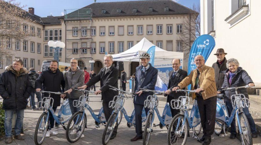 Frankenthal – In die Pedale, fertig, los: Fahrradvermietsystem VRNnextbike in Frankenthal gestartet