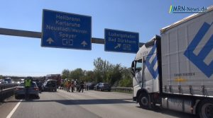Frankenthal – VIDEO NACHTRAG: Unfall auf A61 – Rettungshubschrauber im Einsatz