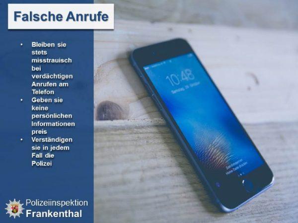 Frankenthal – Anruf falscher Polizeibeamter
