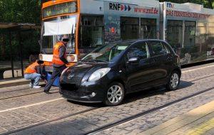 Ludwigshafen  – Erstmeldung: Unfall mit Straßenbahn