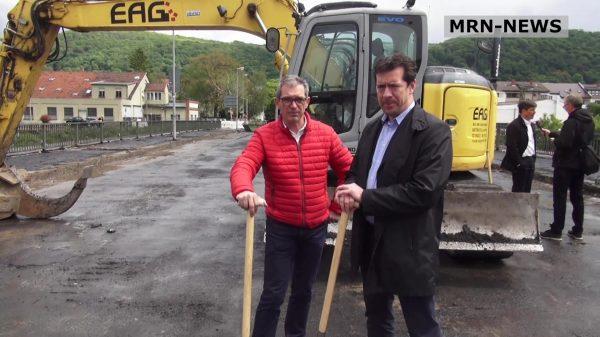 Heidelberg – Damit der Verkehr bald schneller fließt: Spatenstich für den Neubau der Hebelstraßenbrücke