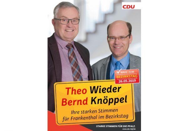 Frankenthal – Bernd Knöppel und Theo Wieder kandidieren für den Bezirkstag