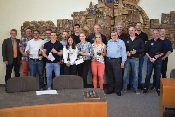 Rhein-Pfalz-Kreis – Ehrung der AC-Sportler im Rathaus Mutterstadt