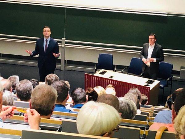 Ludwigshafen – VIDEO: Jens #Spahn in Ludwigshafen –  Diskussionsforum im Klinikum