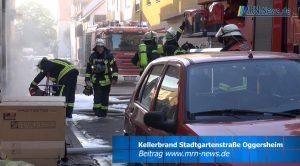 Ludwigshafen – VIDEO NACHTRAG – Kellerbrand bei der Kleiderkammer des Deutschen Roten Kreuzes in Oggersheim