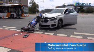 Ludwigshafen – VIDEO ERSTMELDUNG – Motorradfahrer bei Unfall schwer verletzt