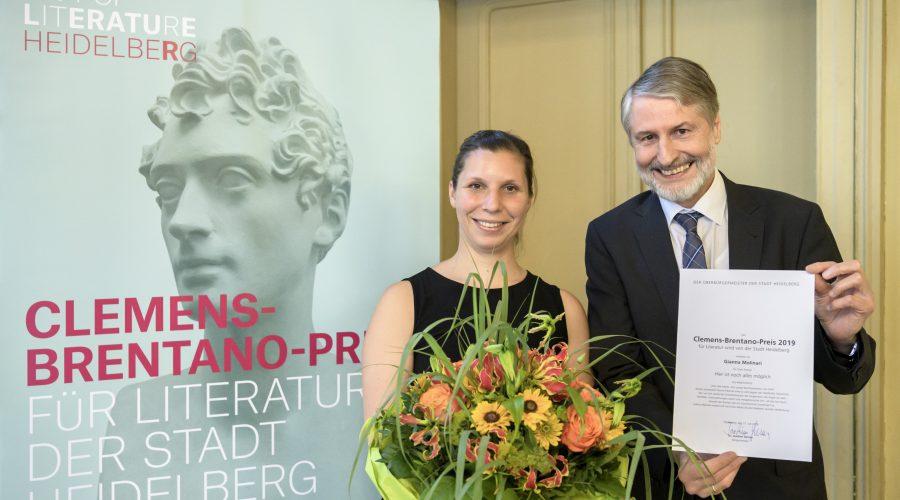 Heidelberg – Clemens-Brentano-Preis der Stadt Heidelberg 2019 an Gianna Molinari verliehen
