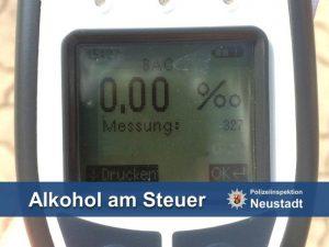 Germersheim – Mit 1,53 Promille auf der B9 eingeschlafen