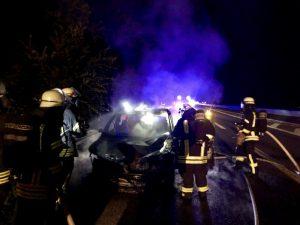 Weinheim – PKW Brand auf der #A5 – Einsatzmarathon der Weinheimer Feuerwehr am Wochenende