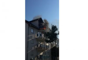 Ludwigshafen – NACHTRAG: Brand auf Balkon in Ruchheim
