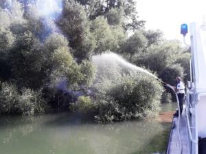 Germersheim – Feuerlöscheinsatz der Germersheimer Wasserschutzpolizei