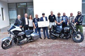 "Landau – Stationäres Hospiz auf der Zielgeraden – Motorradclub ""Blue Knights"" spendet 1.000 Euro"
