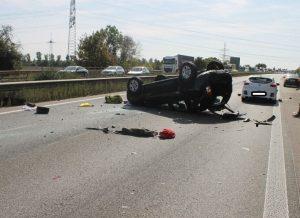 Frankenthal – Vollsperrung der #A61 wegen Unfall – 4 Personen leicht verletzt