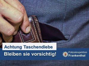 Frankenthal – Taschendiebe auf dem Wochenmarkt