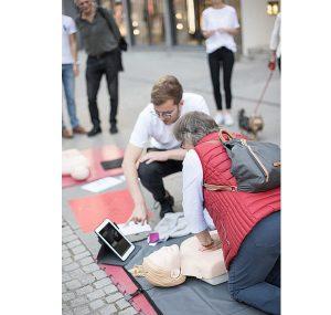 """Mannheim – Aktionstag """"Wiederbelebung"""" mit Erstem Bürgermeister Specht"""