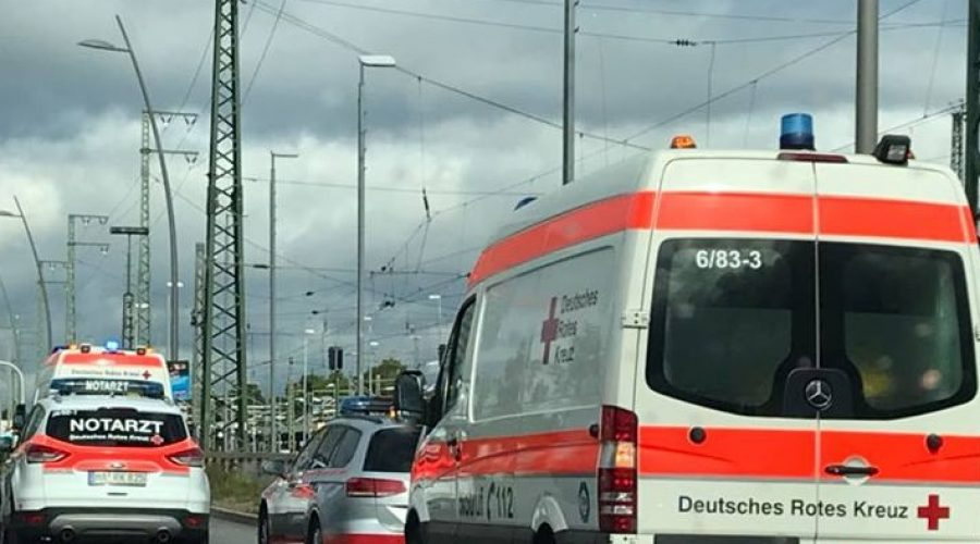 Mannheim –  Frontalcrash in Sandhofen (B44)