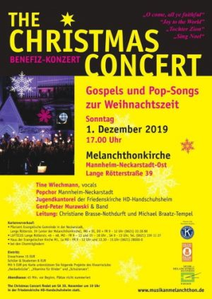 """Mannheim – Gospel und Pop-Songs zur Weihnachtszeit Erster Advent – """"The Christmas Concert"""" nach 2 Jahren Pause wieder in der Melanchthonkirche. Benefizkonzert am 1. Dezember"""