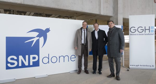 """Heidelberg – """"SNP dome""""! So wird die neue Großsporthalle Heidelbergs heißen – Oberbürgermeister Eckart Würzner freut sich auf Sport-Highlights und Großevents"""