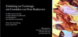 Rhein-Pfalz-Kreis-  Vernissage mit Gemälden von Piotr Butkiewicz