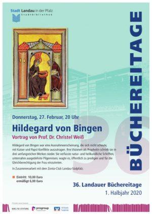Landau – Leben und Wirken von Hildegard von Bingen unter der Lupe – Vortrag im Rahmen der 36. Landauer Büchereitage am 27. Februar in der Stadtbibliothek