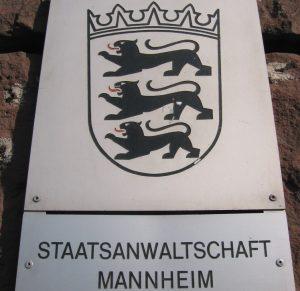 Mannheim – Anklage wegen Tötungsdelikts in Mannheim-Innenstadt