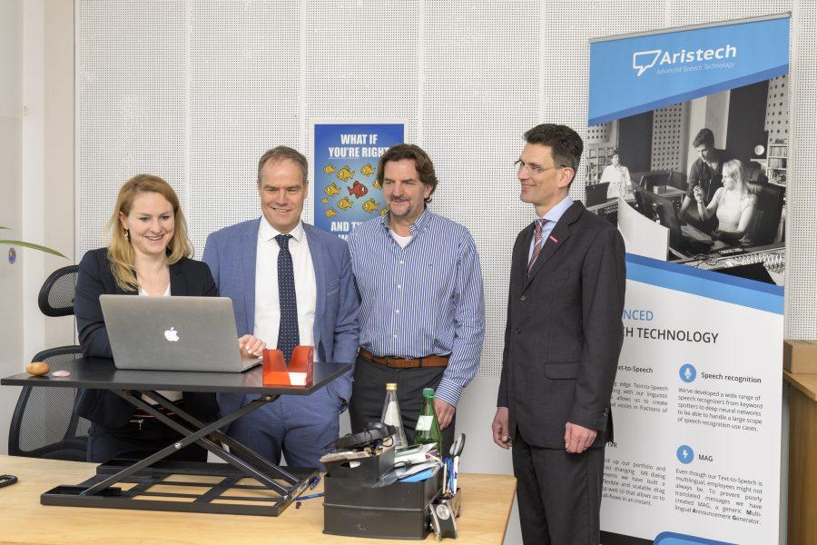 Heidelberg – Oberbürgermeister Prof. Dr. Eckart Würzner besuchte Heidelberger Sprachtechnologie-Unternehmen Aristech