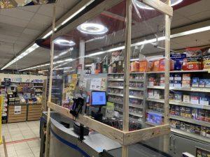 Ludwigshafen –  Kunden und Personal schützen in Zeiten von Corona bei EDEKA Krech in Maudach