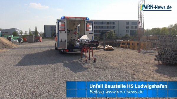 Ludwigshafen – Unfall auf der Baustelle der Campus-Erweiterung der Hochschule Ludwigshafen – Bauarbeiter schwerverletzt