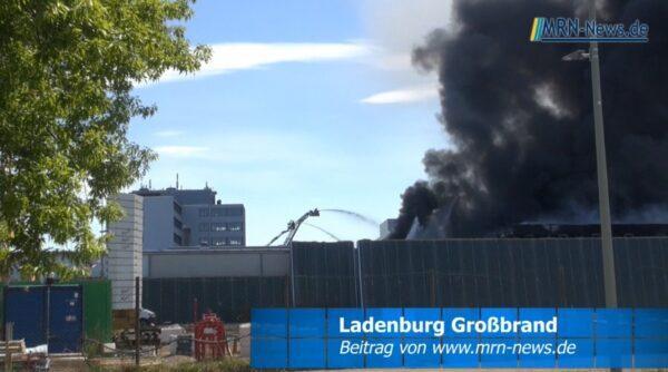Mannheim – VIDEO NACHTRAG zum Großbrand in Produktionshalle einer Kunststofffabrik in Ladenburg