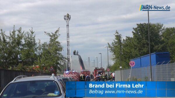Ludwigshafen – VIDEO – Brand bei der Firma Lehr in Rheingönheim