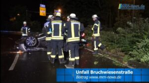 Ludwigshafen – NACHTRAG: Auto landet auf dem Dach – Mann behindert Unfallaufnahme