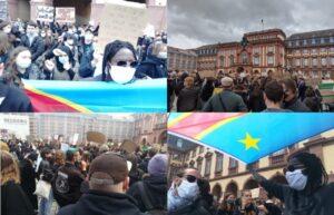 """Mannheim – Tausende kamen in den Schloßhof zur friedlichen """"Black Lives Matter"""" Kundgebung"""