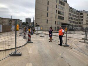 Ludwigshafen –  Durchgang am Berliner Platz für Fußgängerinnen und Fußgänger sowie für Radfahrerinnen und Radfahrer wieder offen
