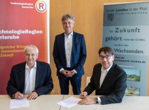 Landau – Starke Partner: Stadt Landau wird Gesellschafterin der TechnologieRegion Karlsruhe – Aktionsbündnis setzt auf Zusammenarbeit bei Mobilität, Energie und Digitalisierung