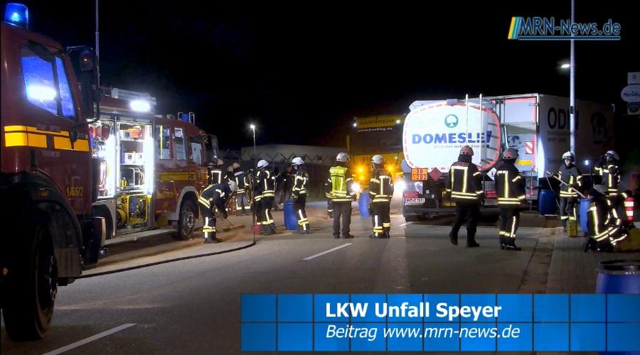 Speyer – VIDEO – LKW Unfall – Tanklastwagen fährt in parkende Sattelzugmaschine